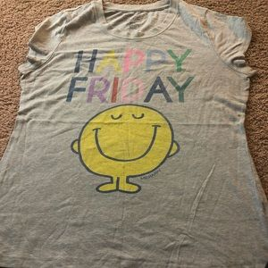 Little miss/mr happy graphic tees